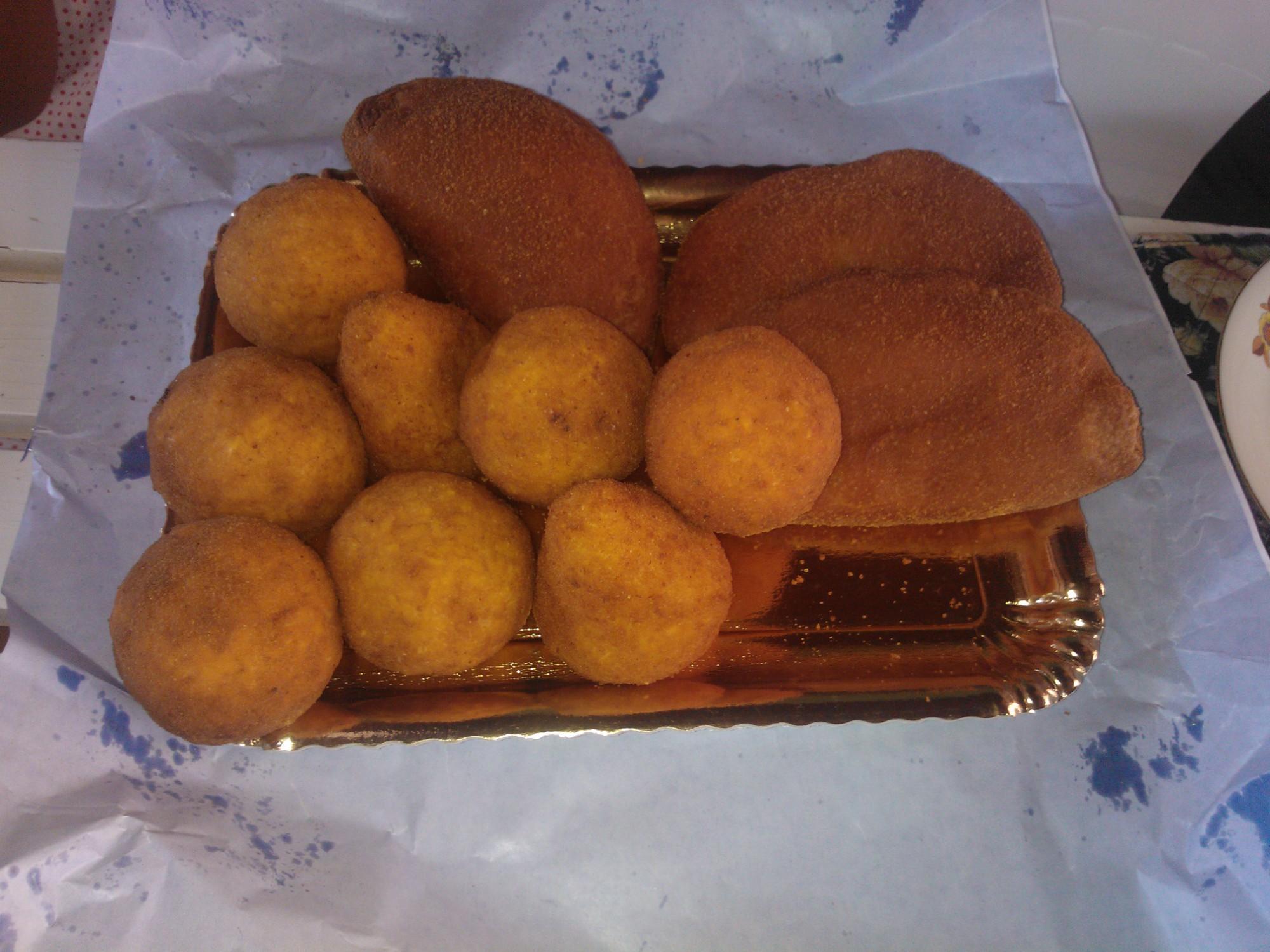 Sicily food calzone arancina