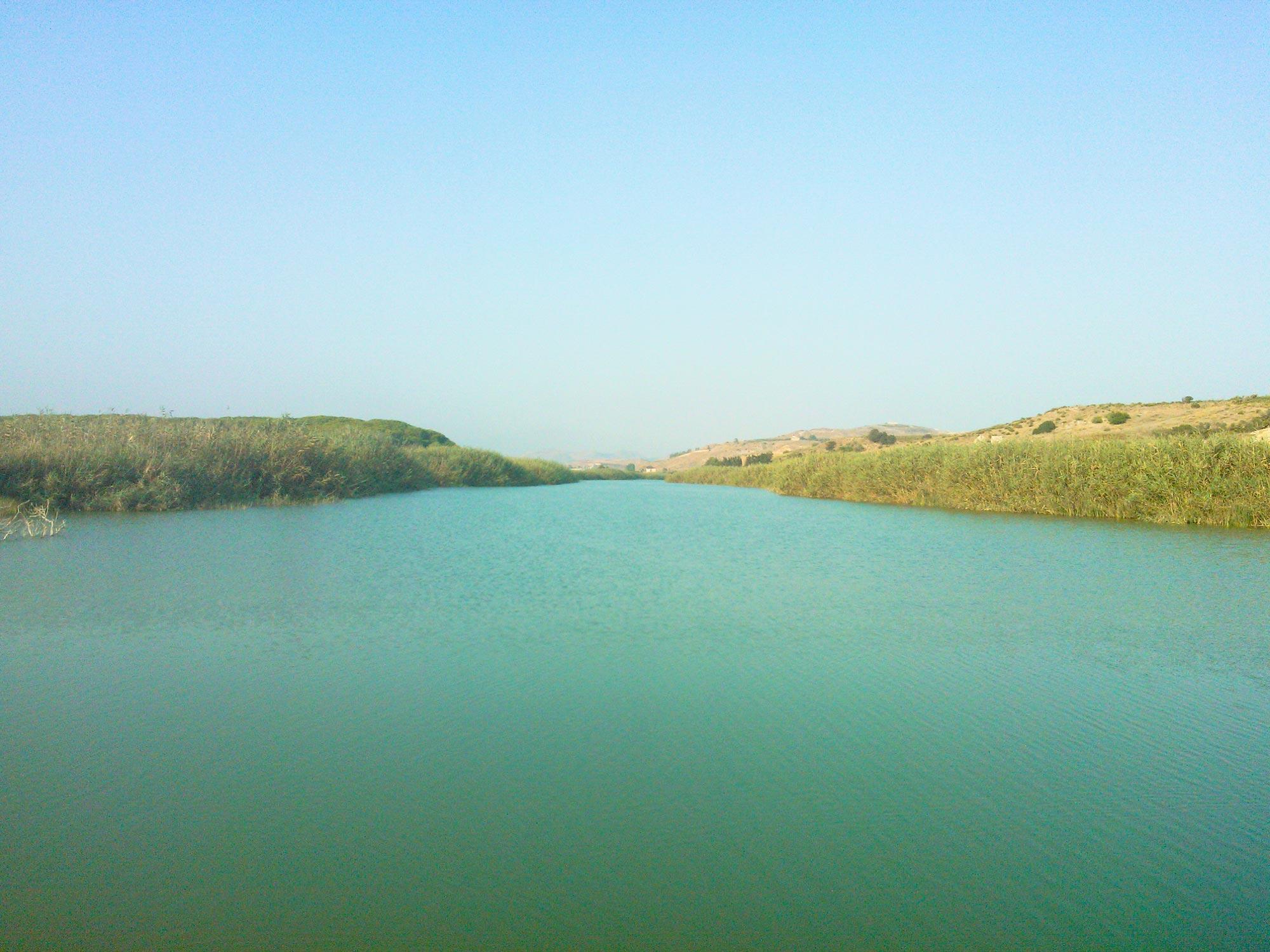 Sicily Outfall river Platani