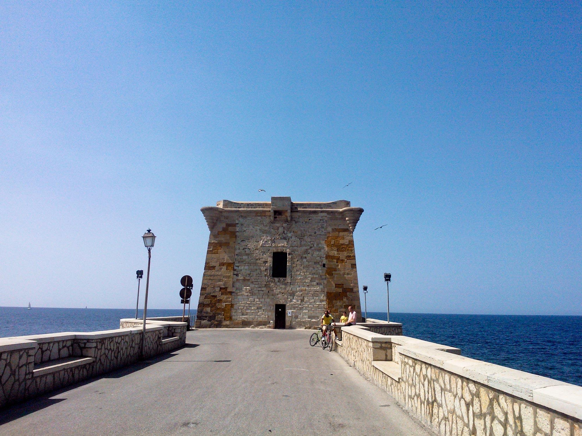 Trapani blockhouse sea