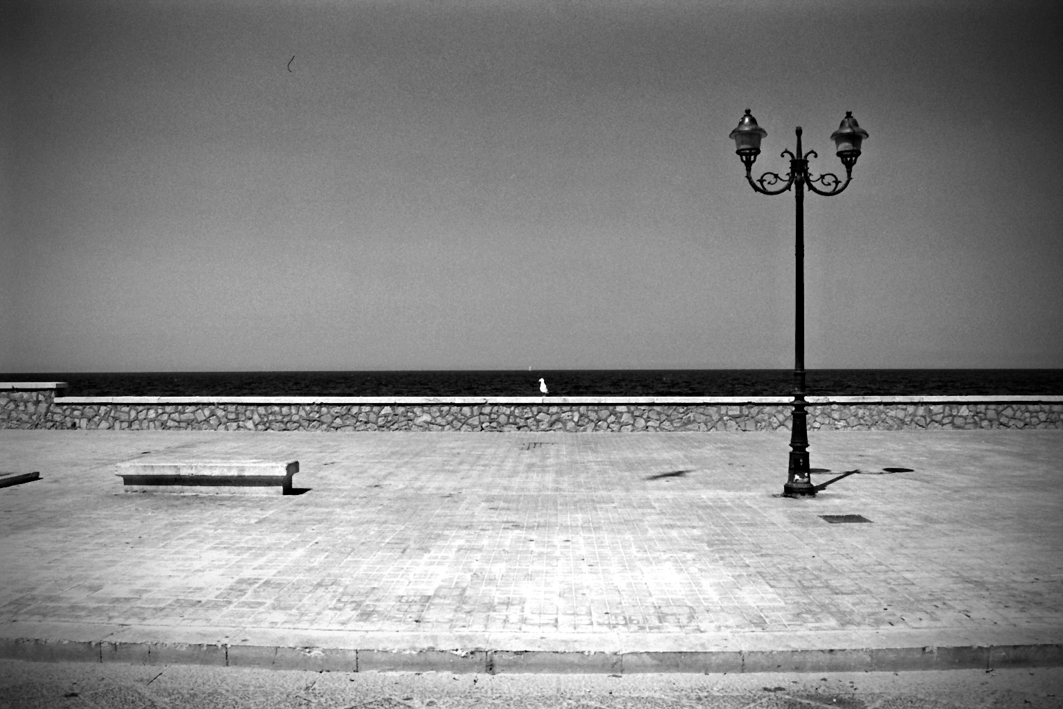 Trapani bw seaside view