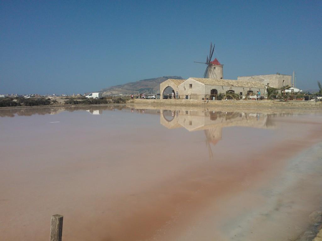 Trapani Riserva naturale integrale Saline di Trapani e Paceco pink