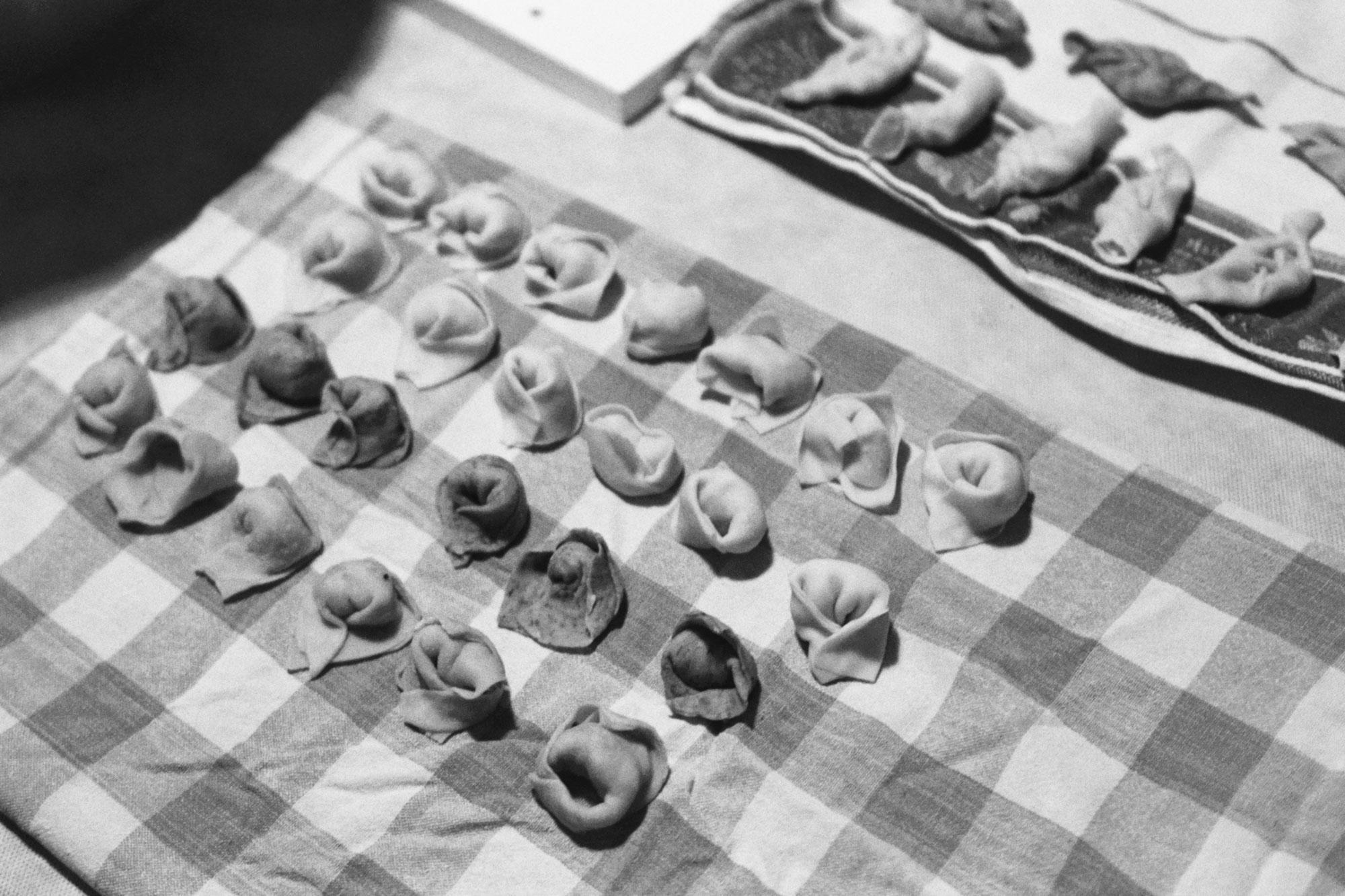Berlin Tortelli workshop bw preparation rows
