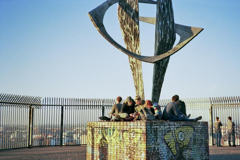 Berlin Humbholdthain park monument concrete people