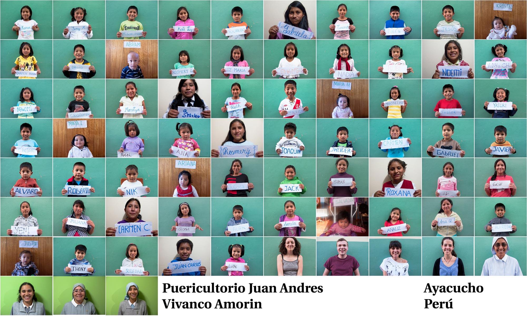 Peru Ayacucho Puericultorio kids poster