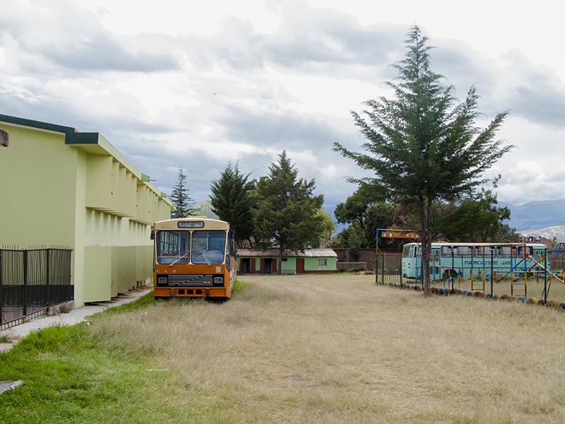 Peru Ayacucho Puericultorio old school bus