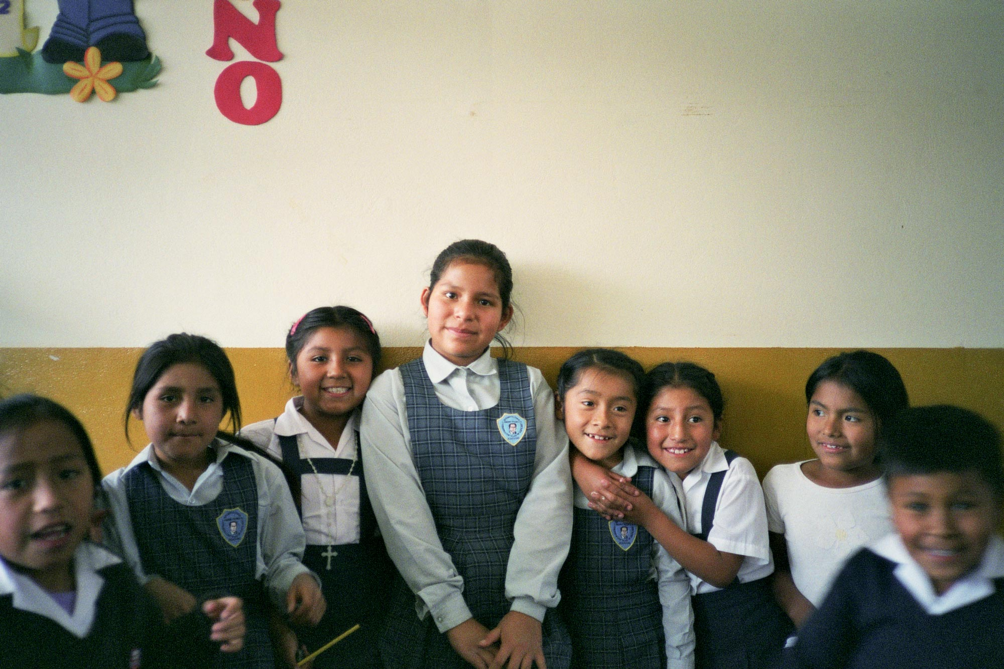 Peru Ayacucho Puericultorio school girls group