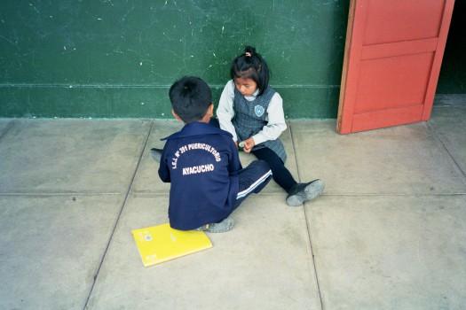 Peru Ayacucho Puericultorio school kids playing