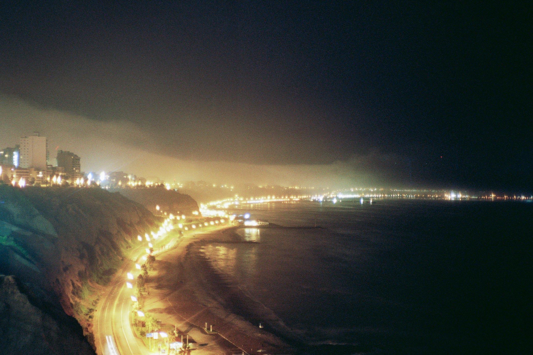Peru Lima Miraflores Larcomar night ocean