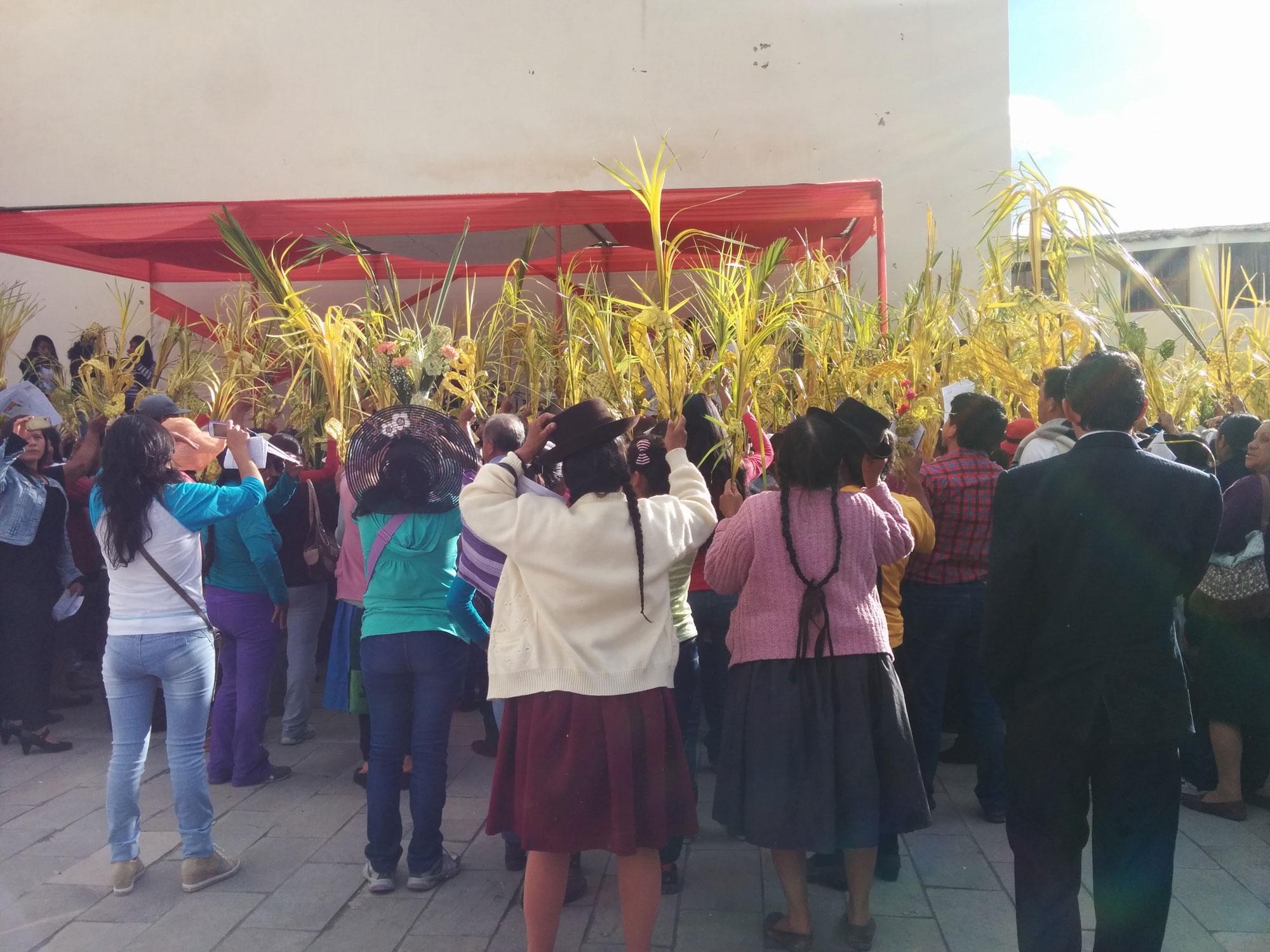 Peru Ayacucho Semana Santa locals priest