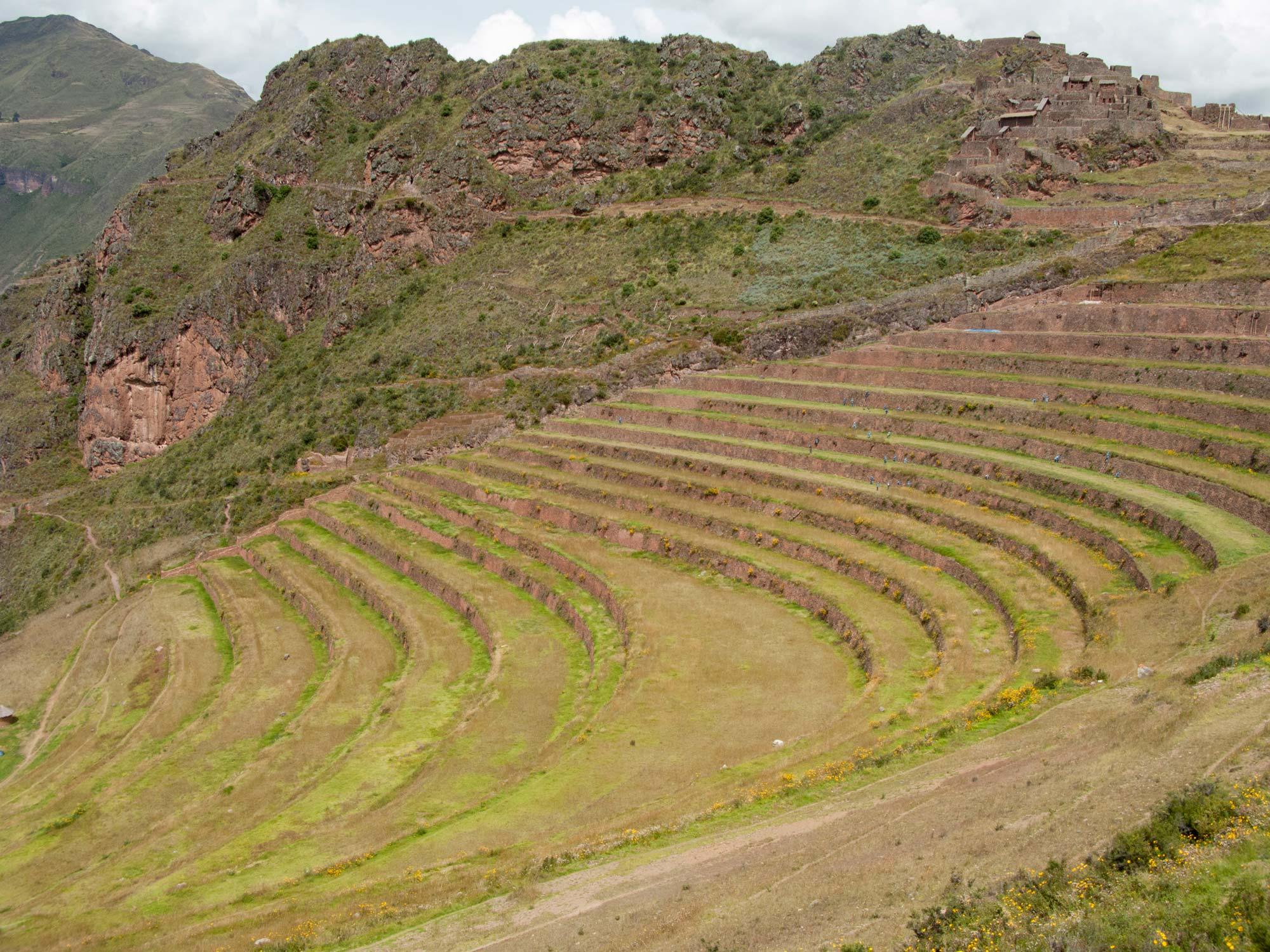 Peru cusco sacred Valley pisaq terraces