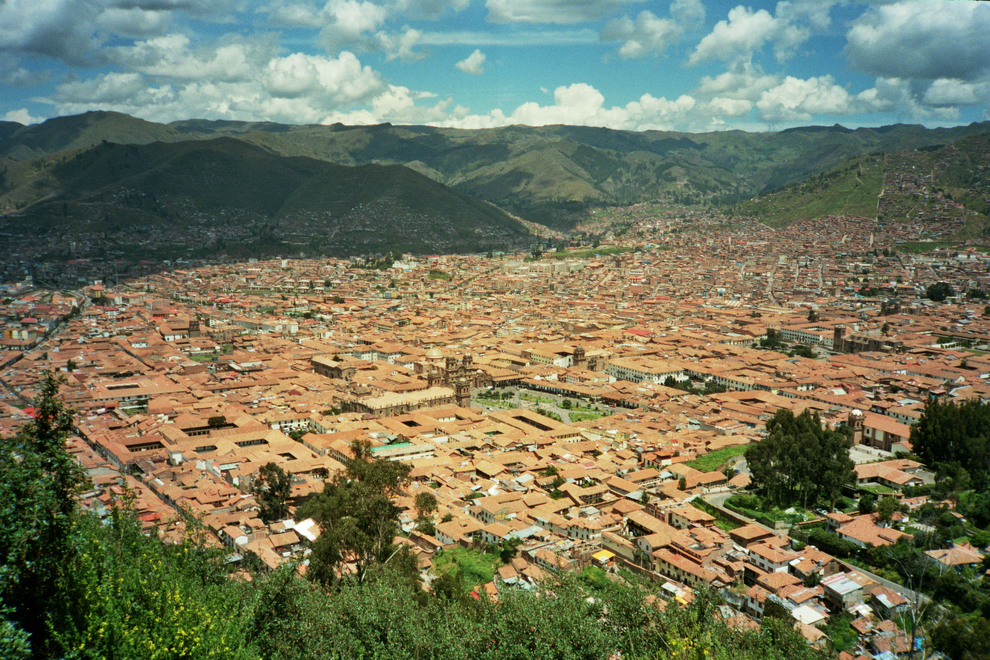 Peru Cusco Saksaywaman top city view