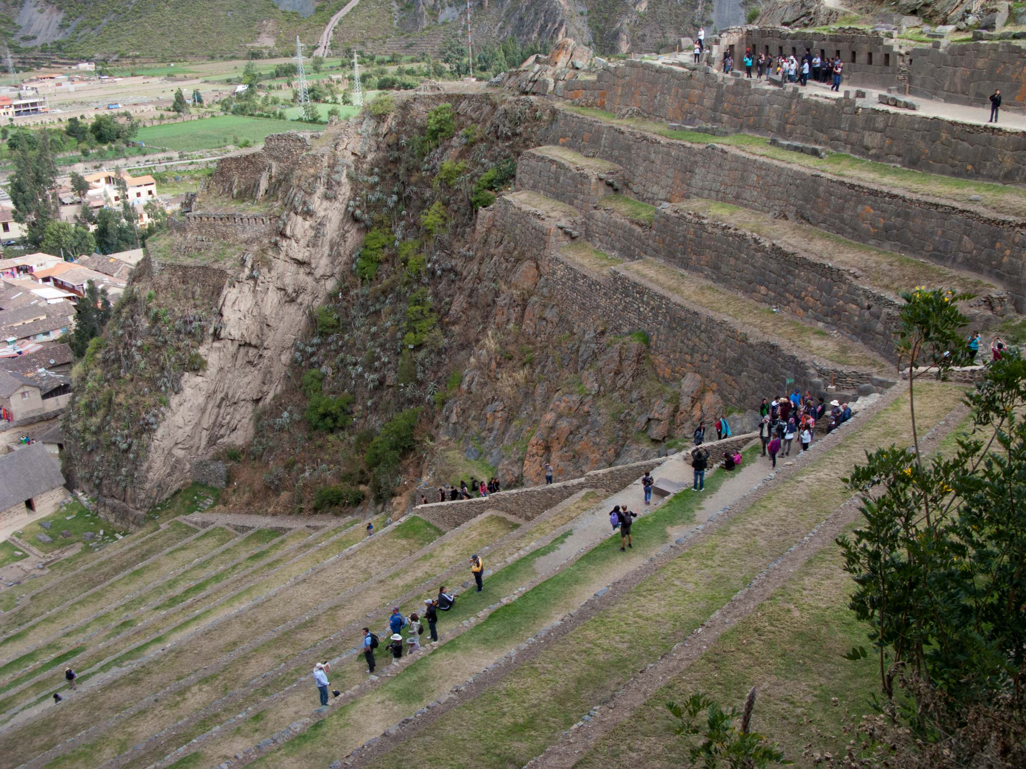 Peru Sacred Valley Ollantaytambo terraces top view