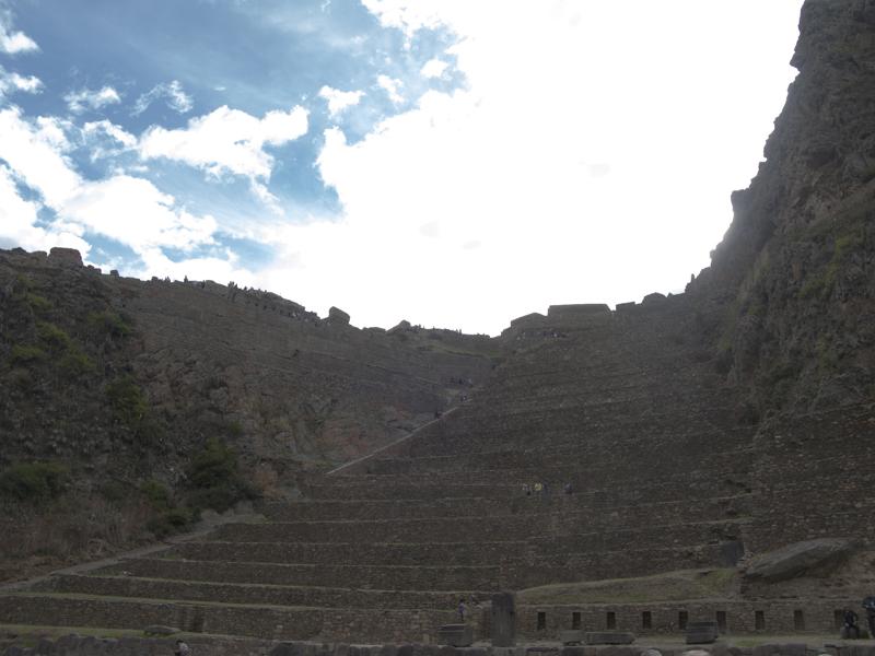 Peru Sacred valley Ollantaytambo Peru Sacred valley Ollantaytambo Terraces of Pumatallis