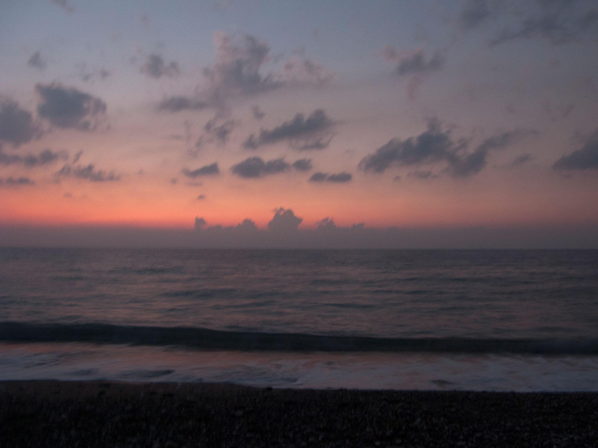 Turkey Cirali sunrise turtles beach pink