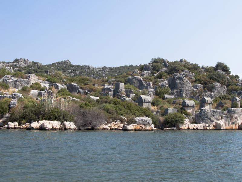 Turkey ucagiz boat kalekoy graves