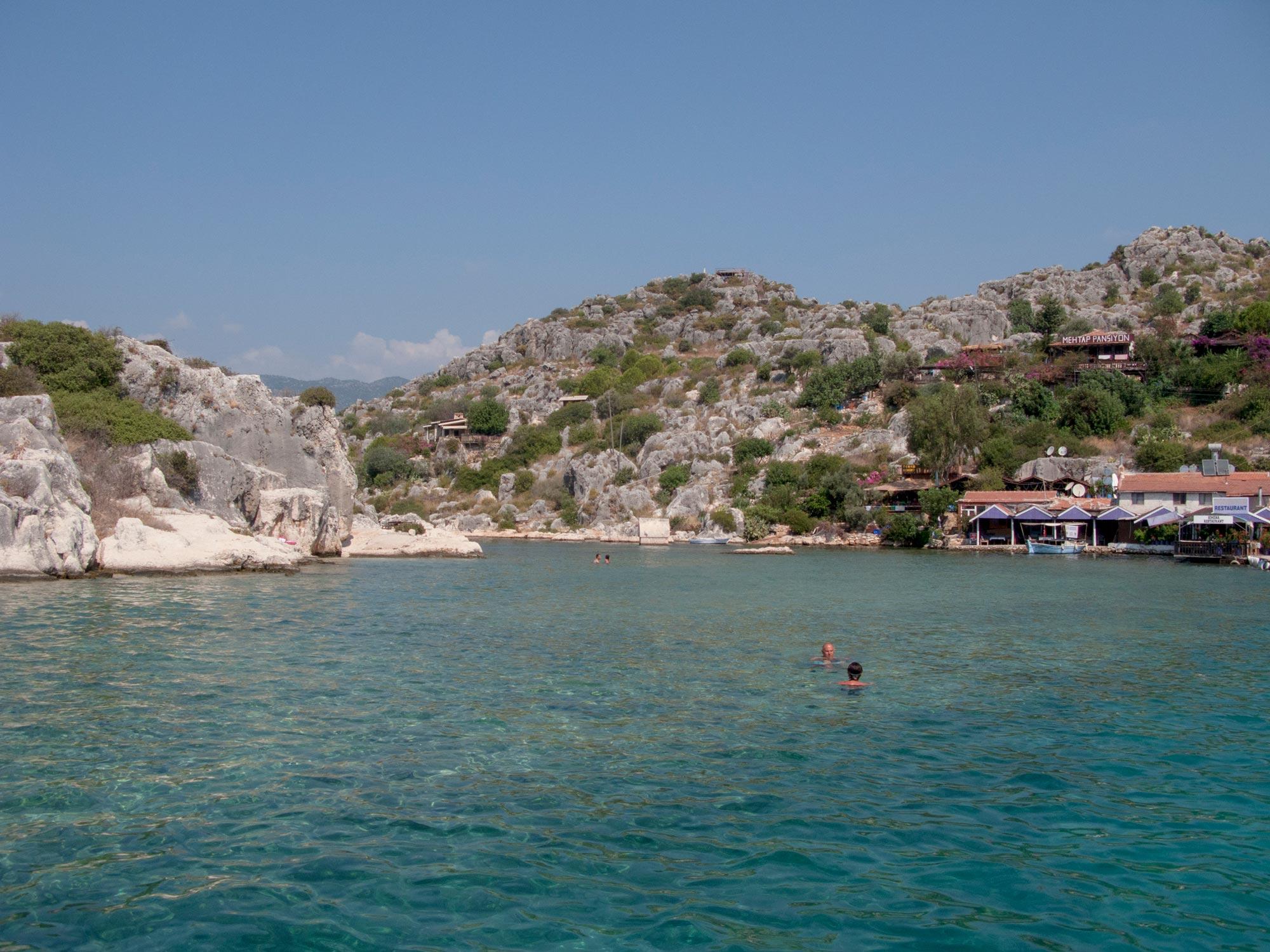 Turkey Ucagiz Kalekoy graves swimming