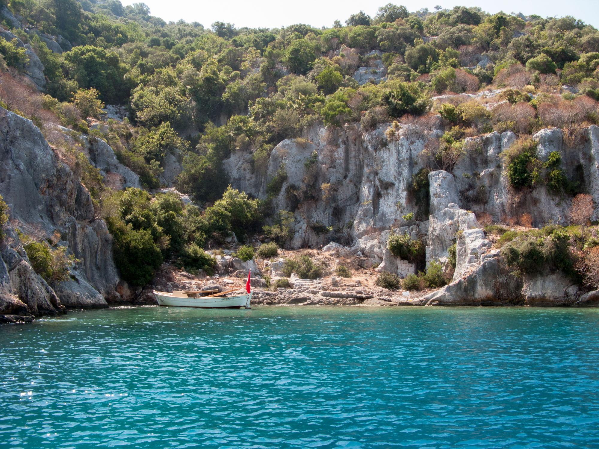 Turkey ucagiz kekova island boat