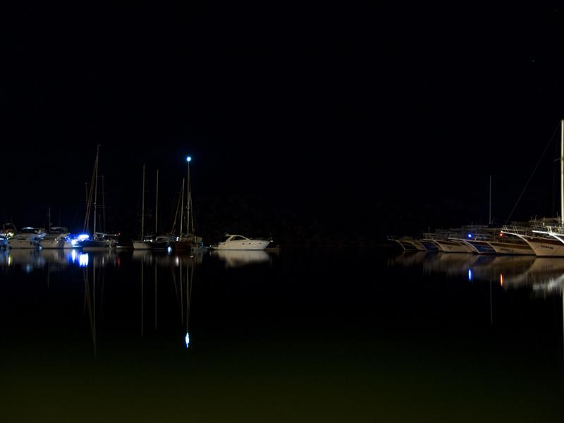 Turkey ucagiz village harbor reflection