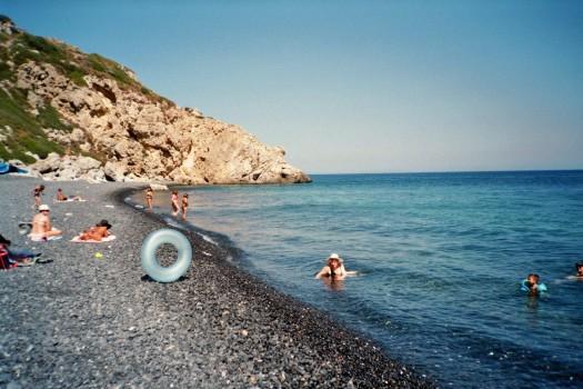 Greece Chios Island Emporios Mavros Gialos stone beach