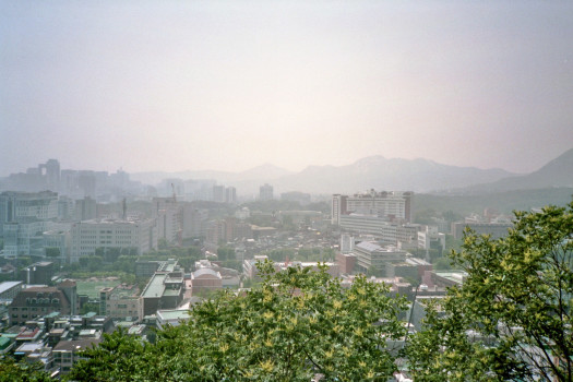 Seoul Naksan Park panorama city view