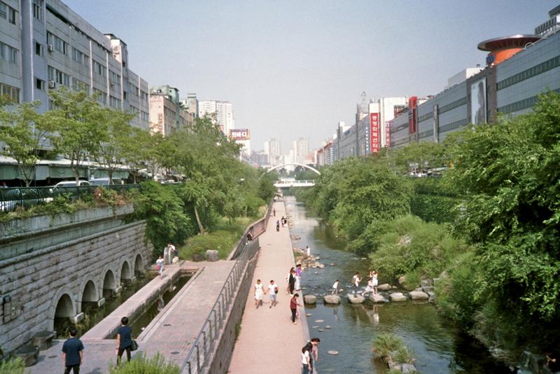 South Korea Seoul Cheonggyecheon top