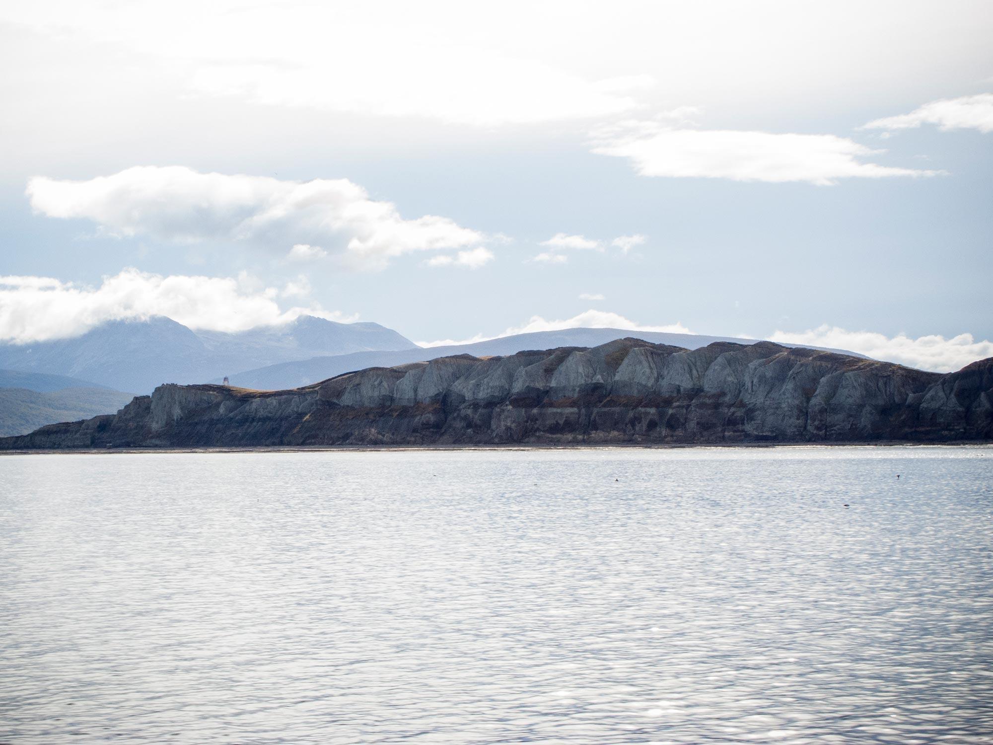 Argentina Ushuaia beagle channel cliffs