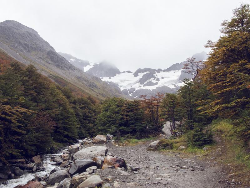 Argentina ushuaia glaciar martial autumn