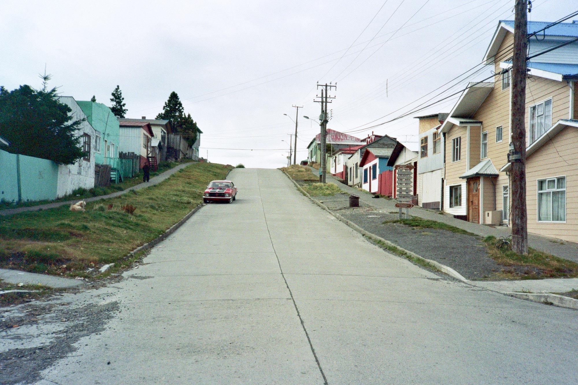 Chile Patagonia Puerto natales street car
