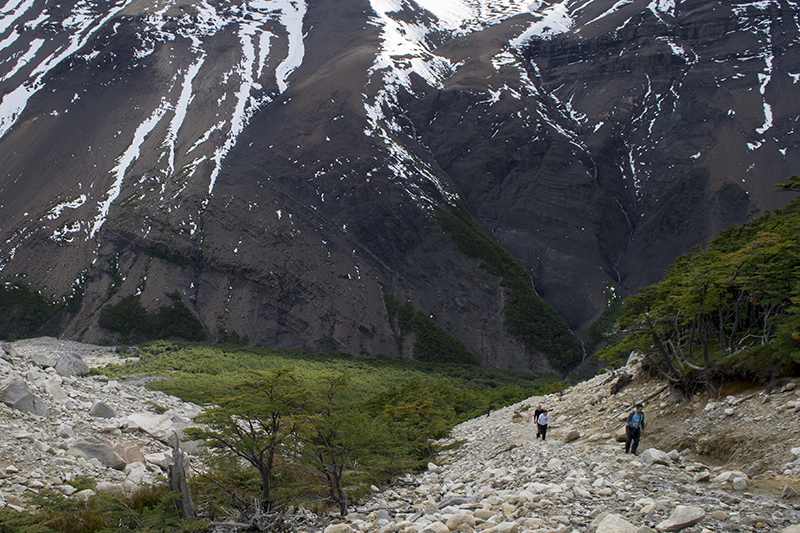 Chile Patagonia Torres del Paine rocky path
