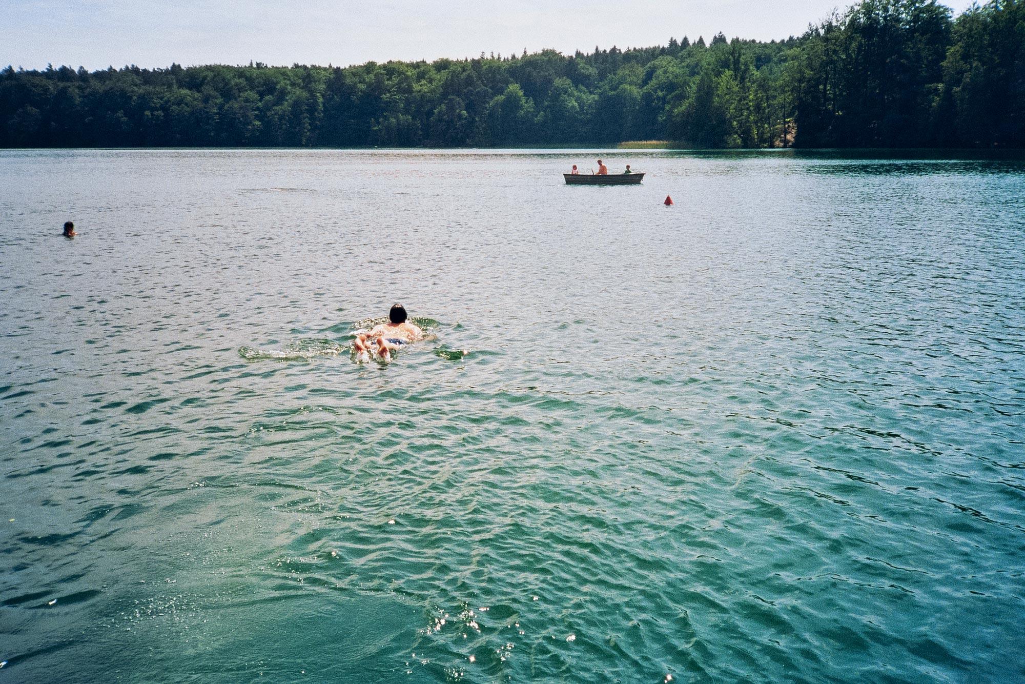 Berlin Liepnitzsee people swimming