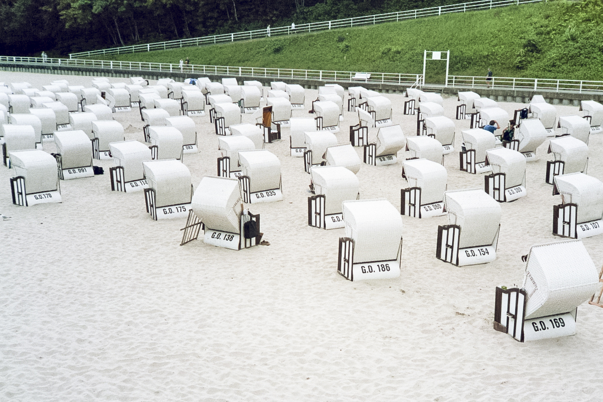 Germany rugen Sellin beach chairs strandkorb