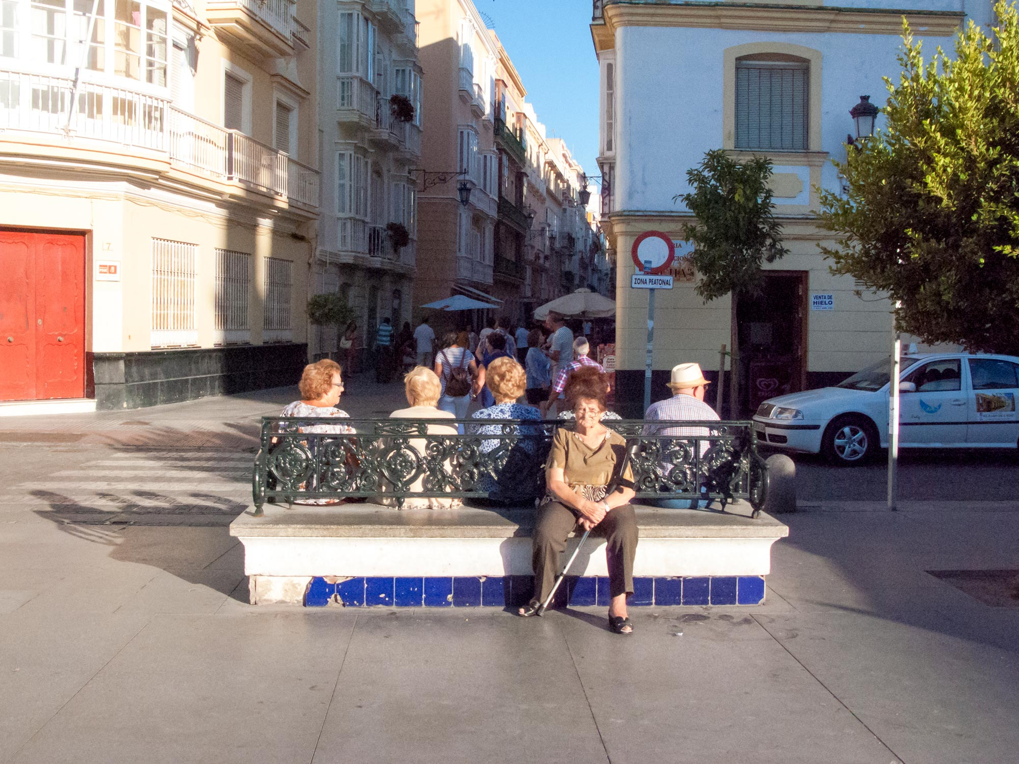 Cadiz elderly women on a bench