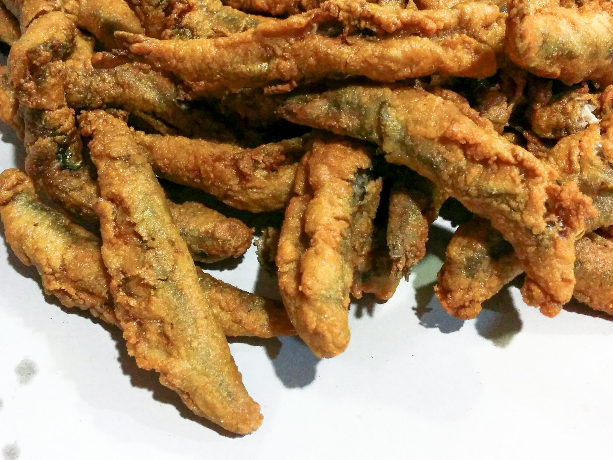 Fried fish Boquerones anchovies