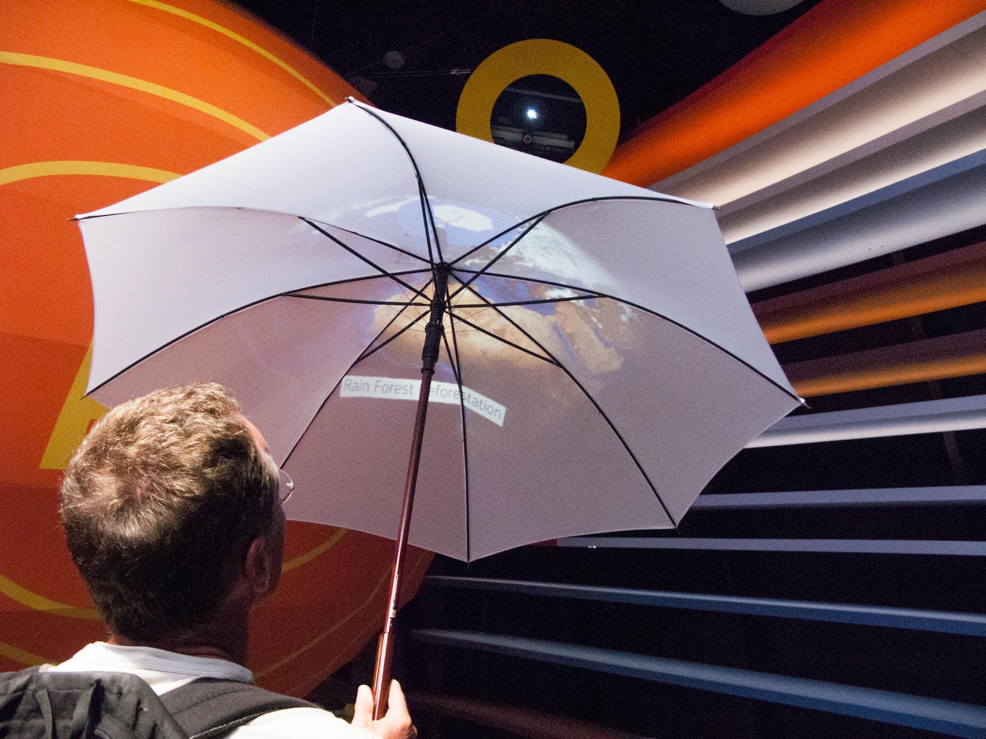 Milan Expo Germany interactive umbrella