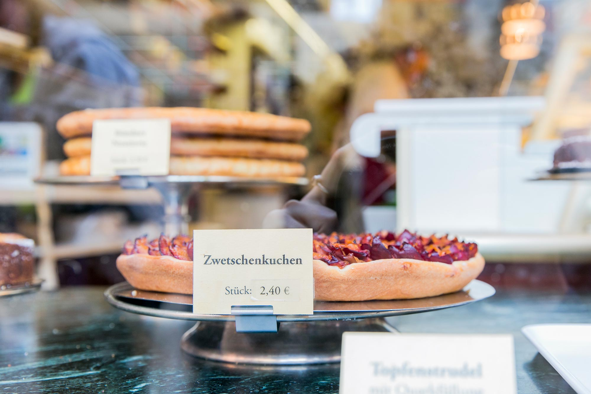 cake from the shop window of Hollhorst bakery