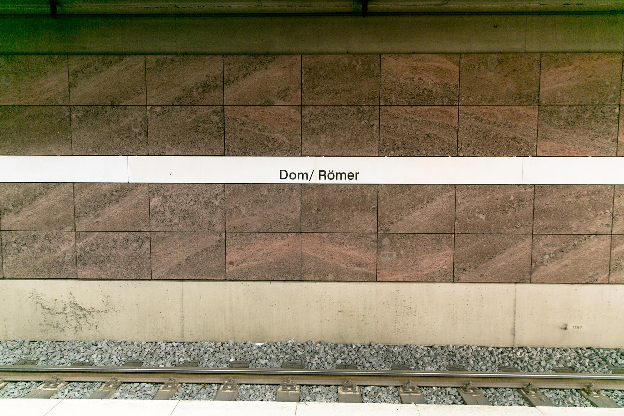 dom romer subway frankfurt