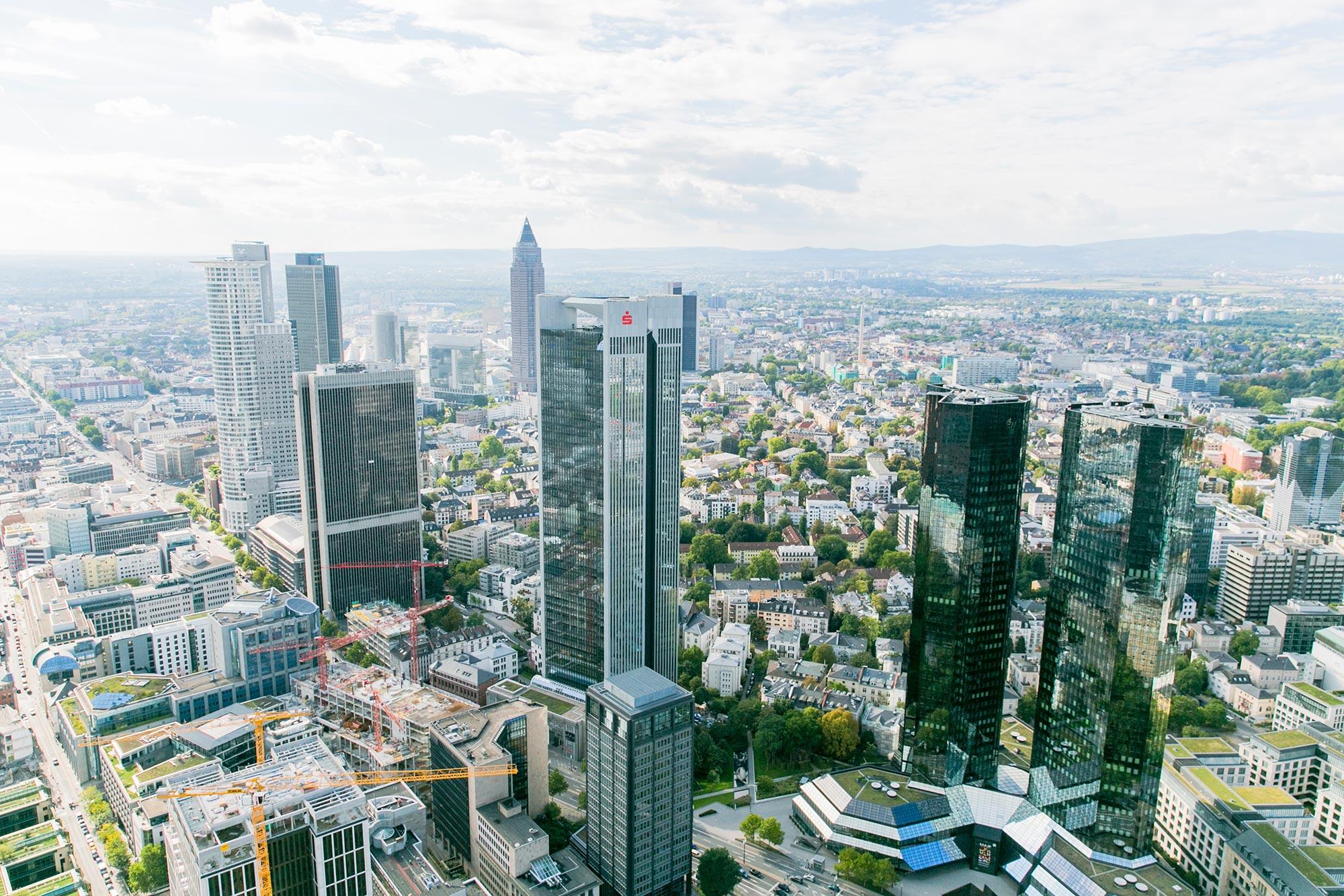main tower mainhattan top view frankfurt