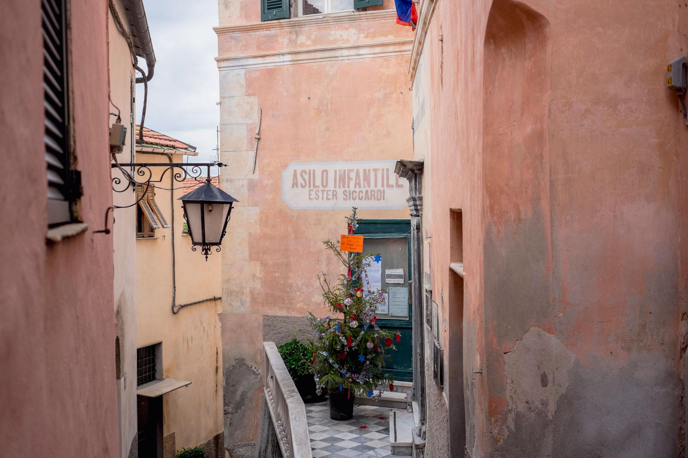 Italy Liguria Cervo asilo