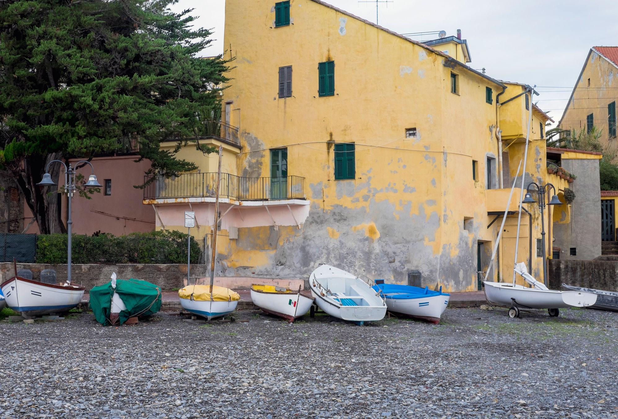 Italy Liguria Cervo beach