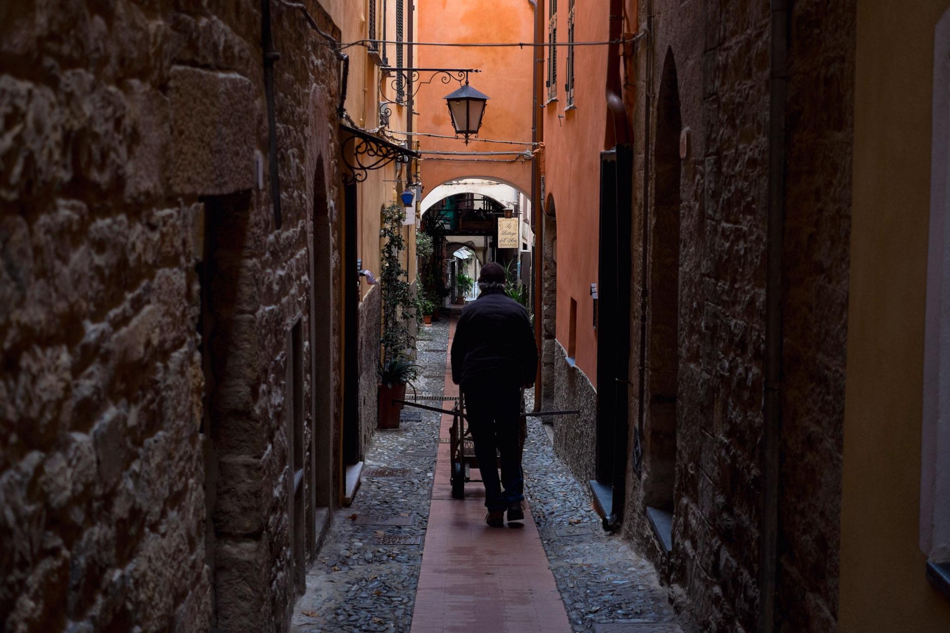 Italy Liguria Cervo geppetto street