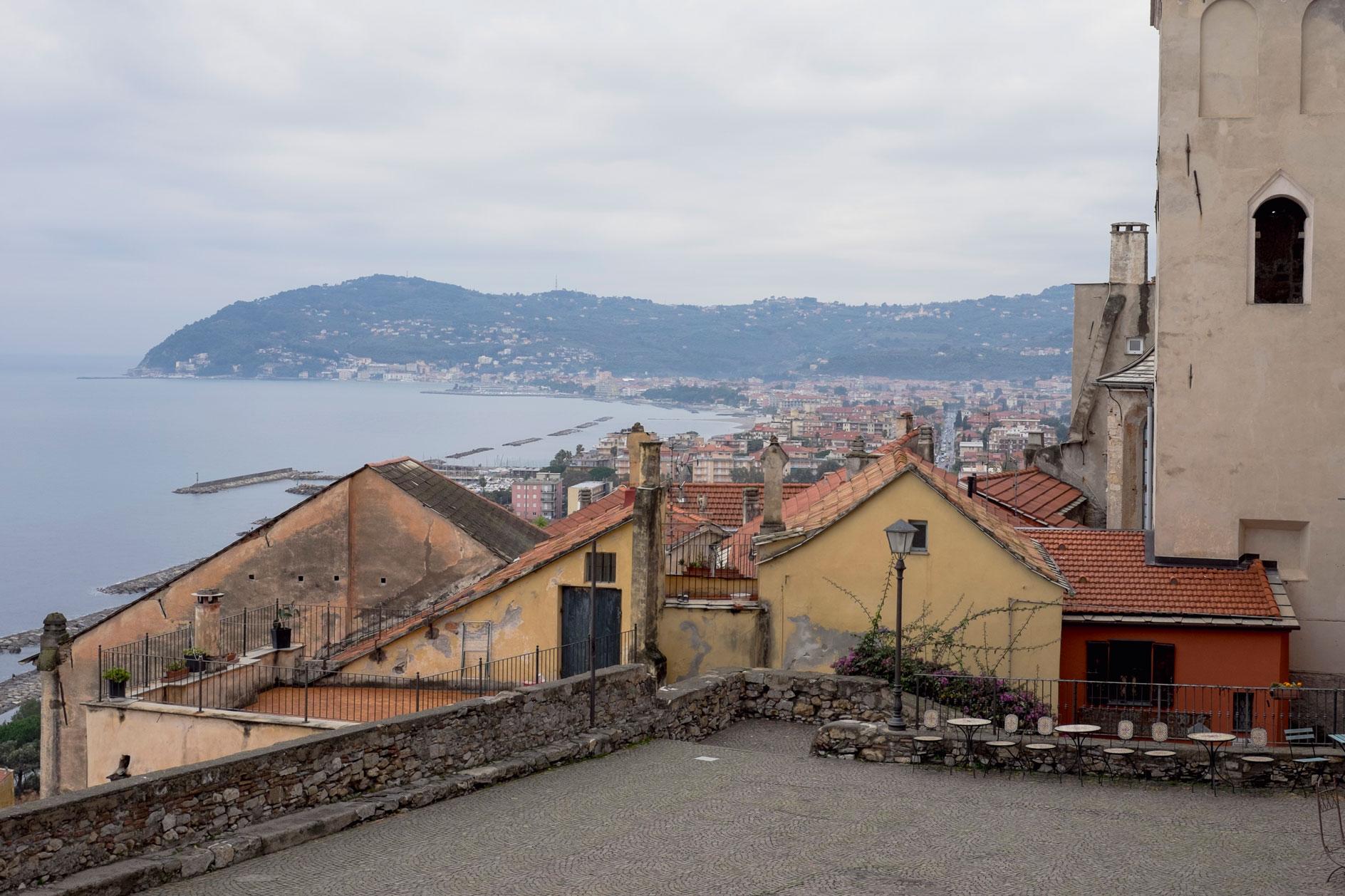 Italy Liguria Cervo terrace