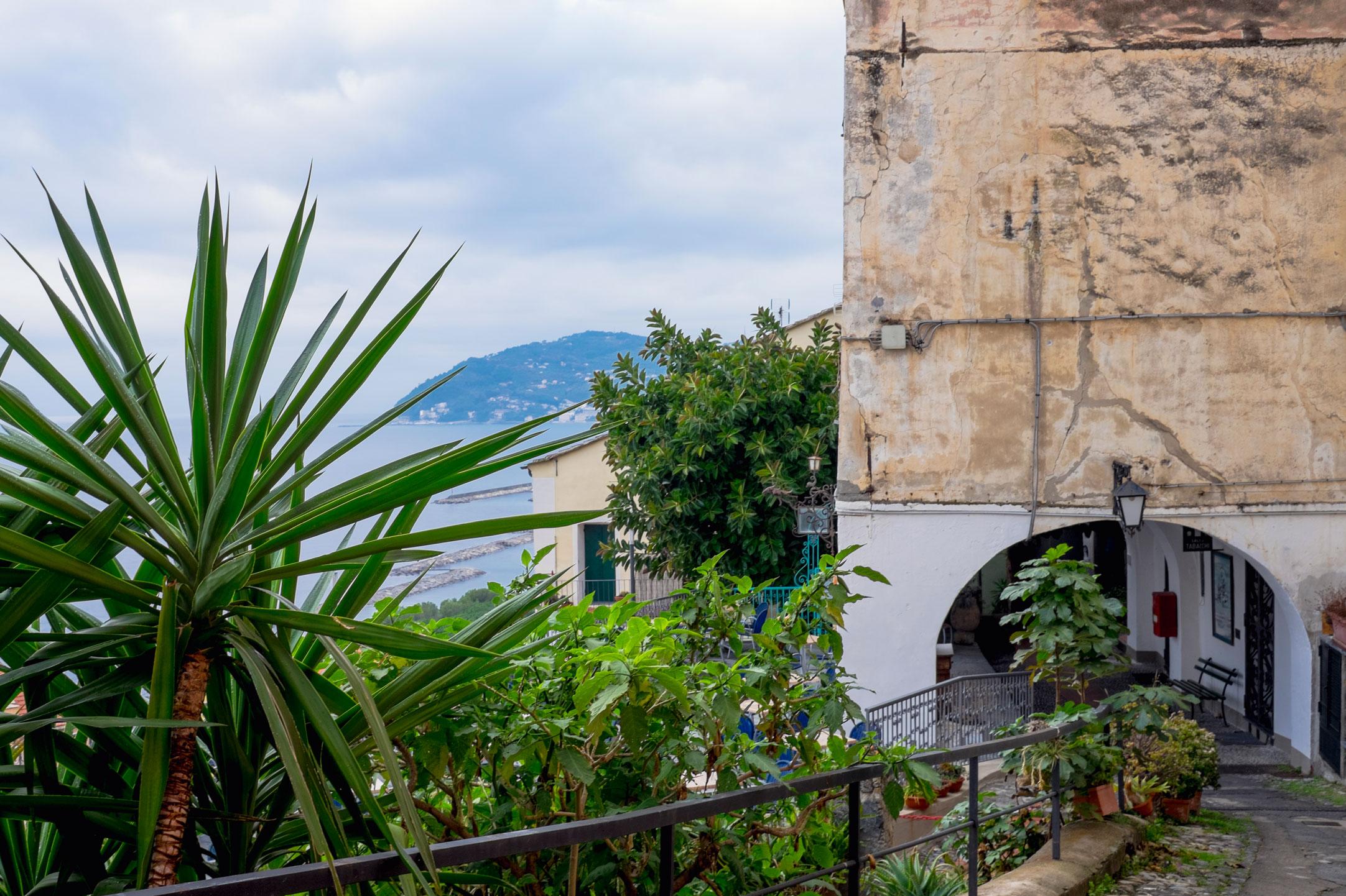 Italy Liguria Cervo view