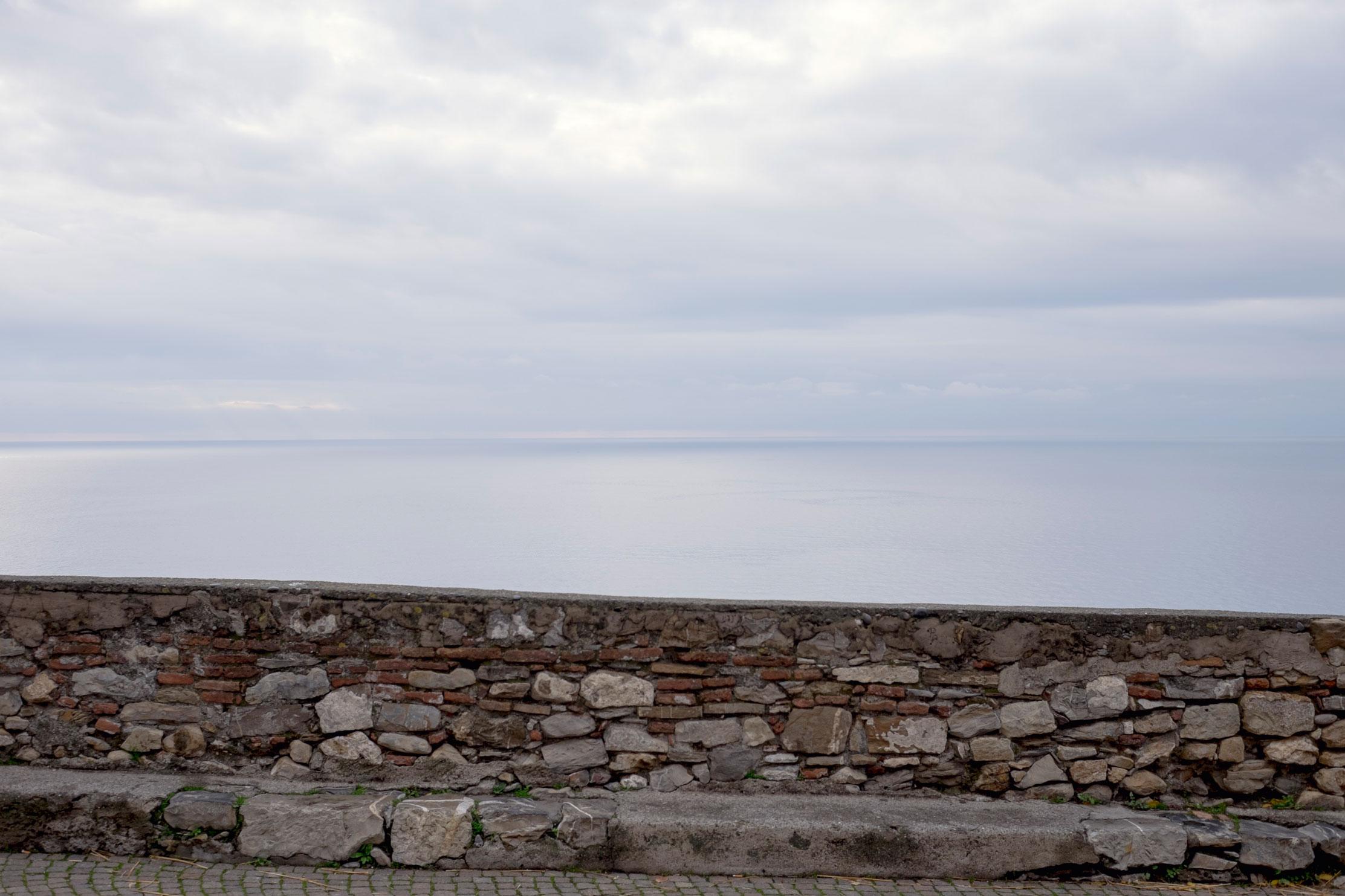 Italy Liguria Cervo wall