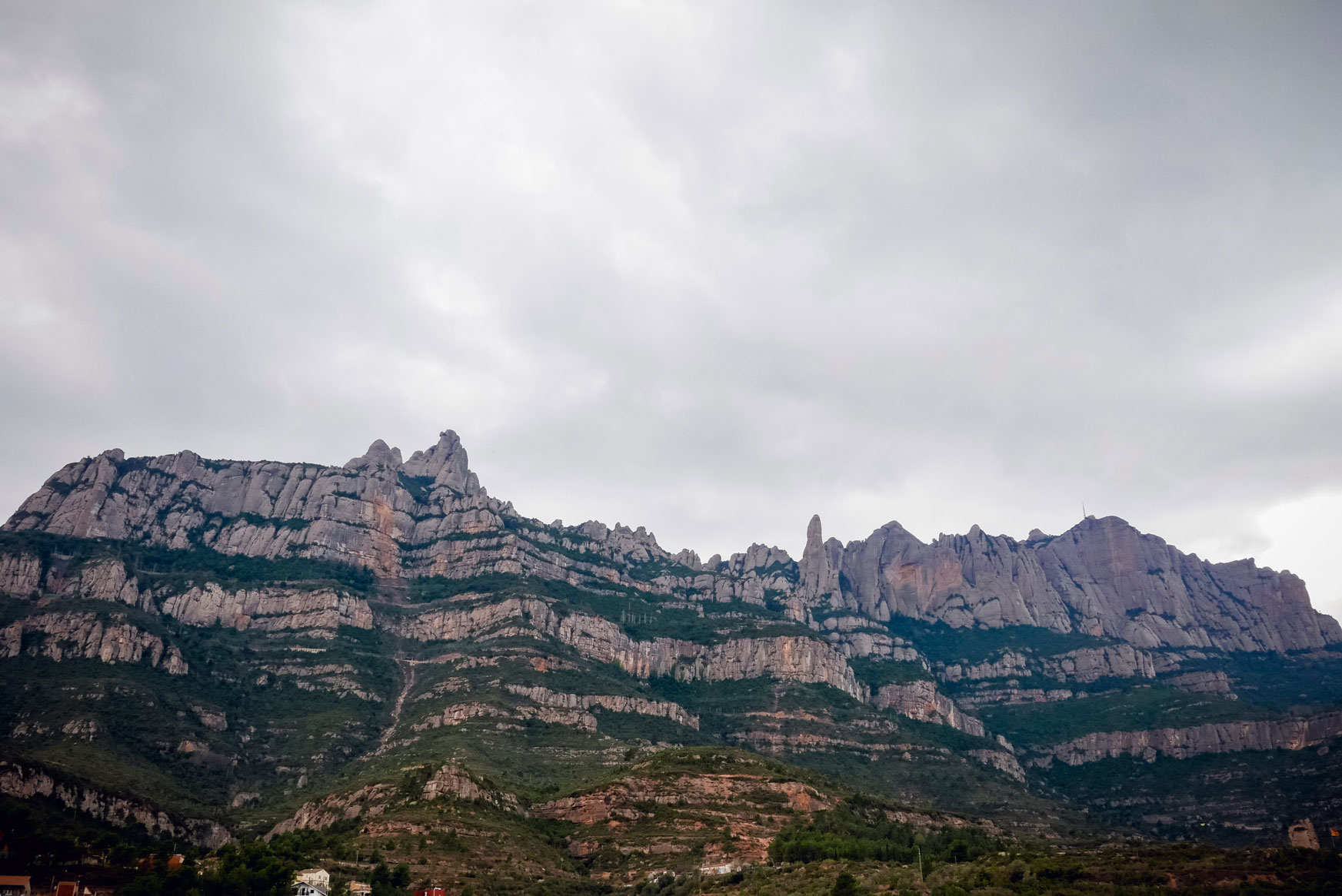 Spain Barcelona Montserrat Monastery from bottom
