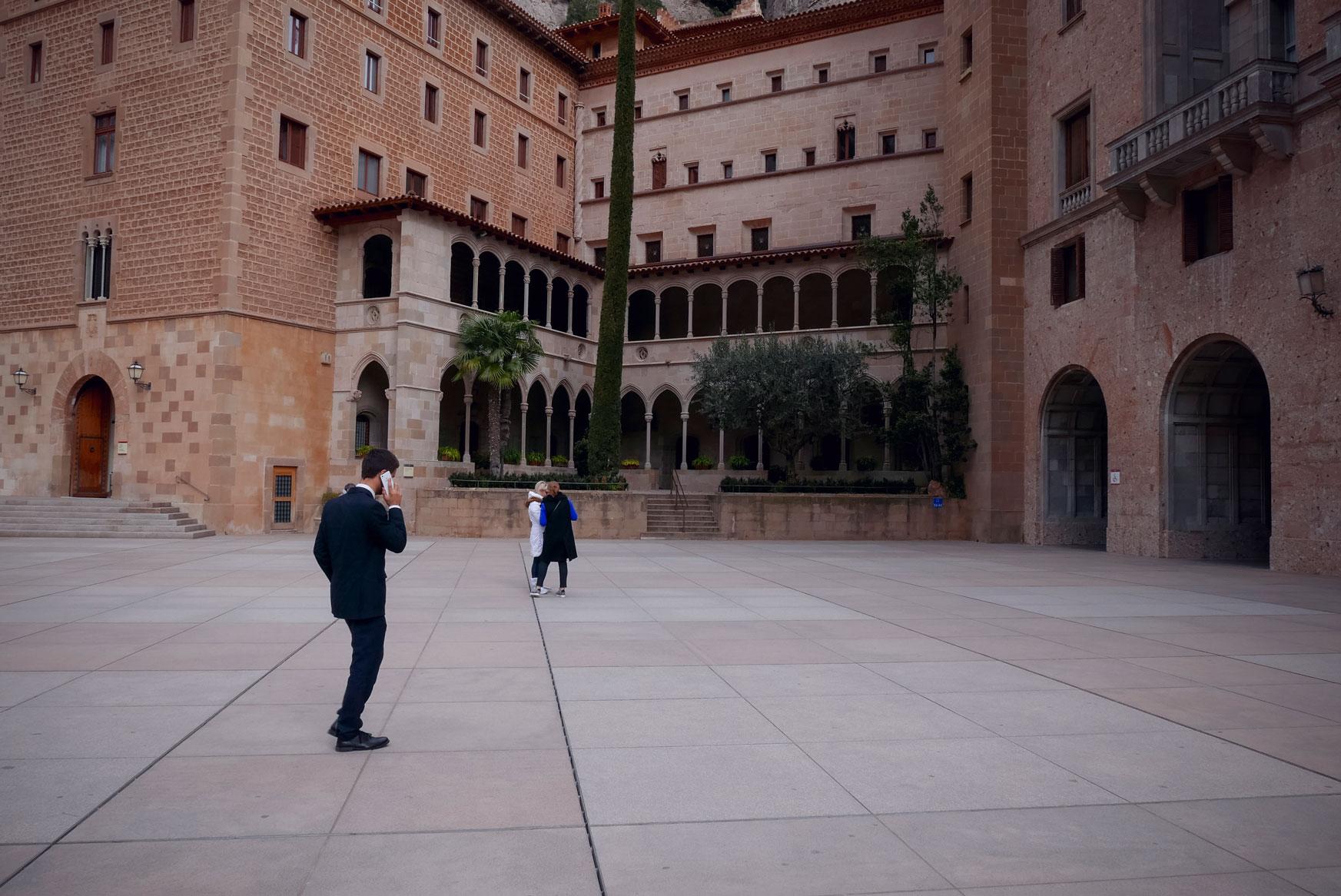 Spain Barcelona Montserrat Monastery main square8