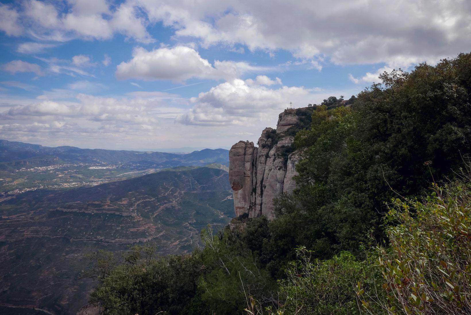 Spain Barcelona Montserrat Monastery sant miguel cross trekking1