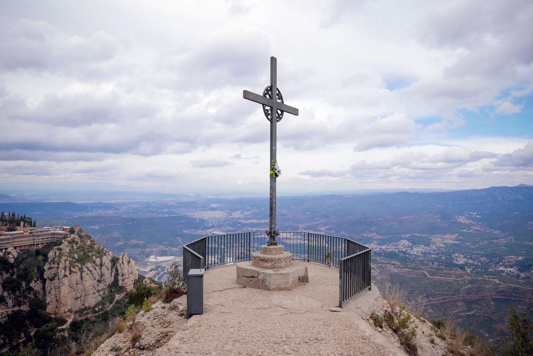 Spain Barcelona Montserrat Monastery sant miguel cross trekking11