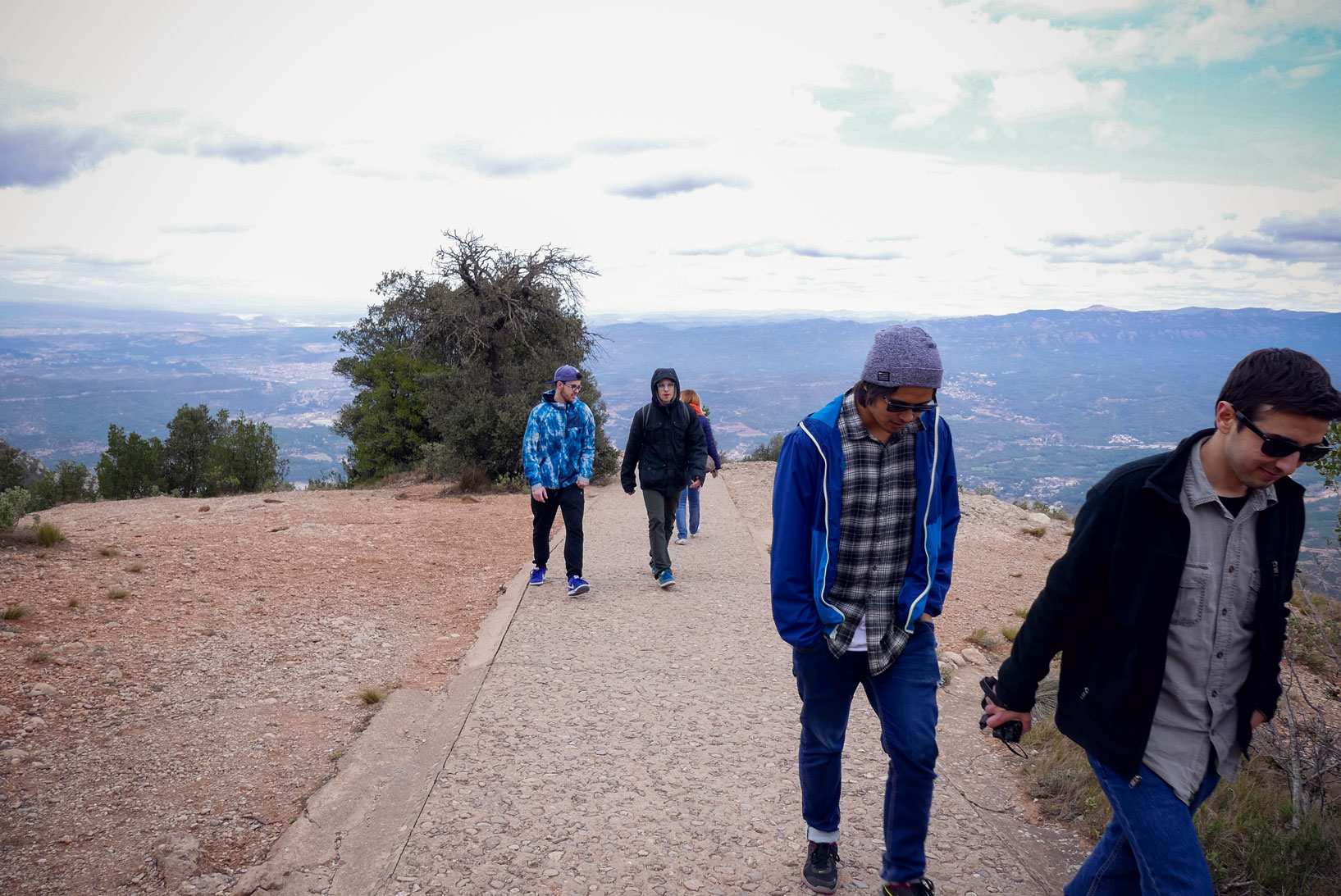 Spain Barcelona Montserrat Monastery sant miguel cross trekking4