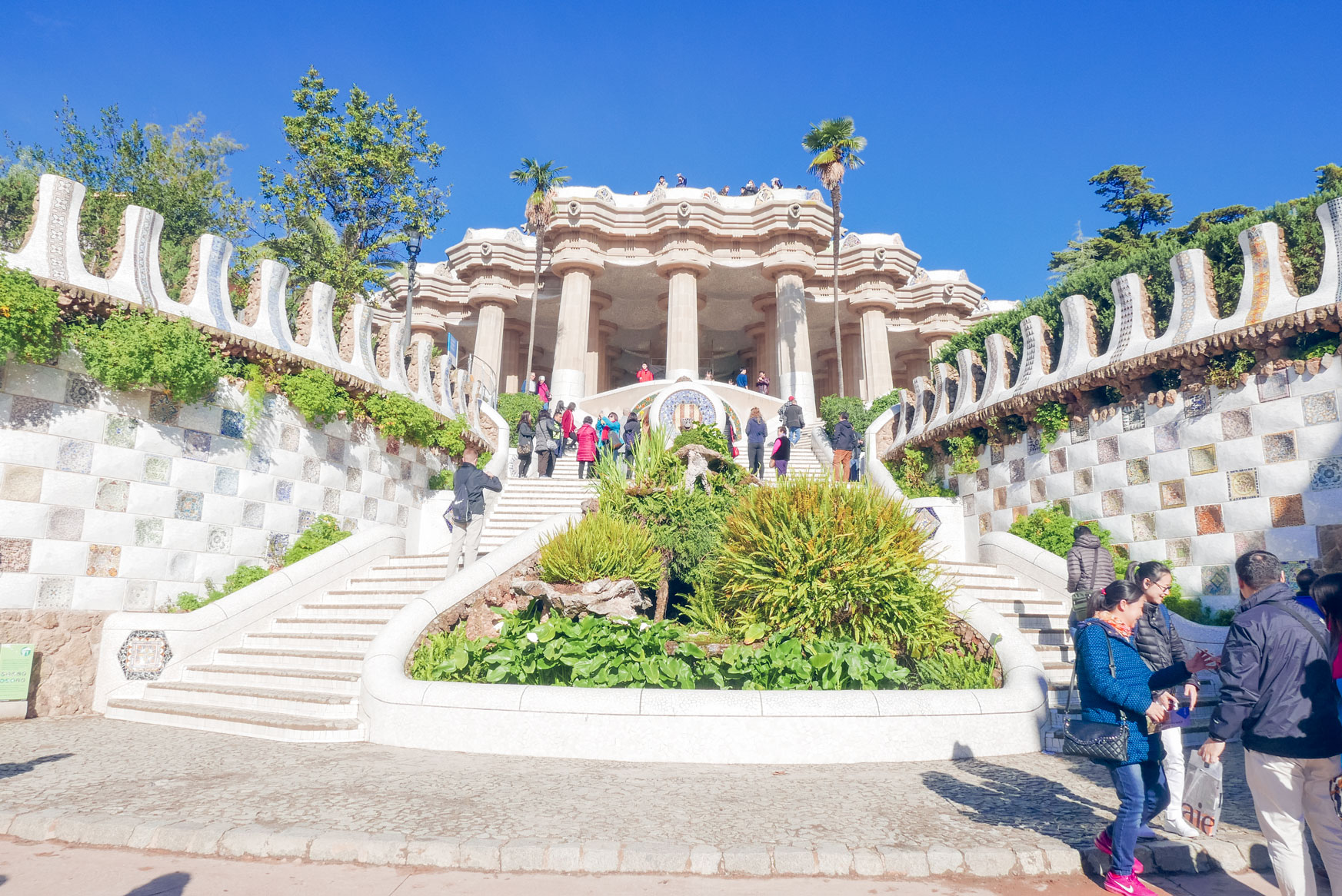 Spain Barcelona Parc Guell front