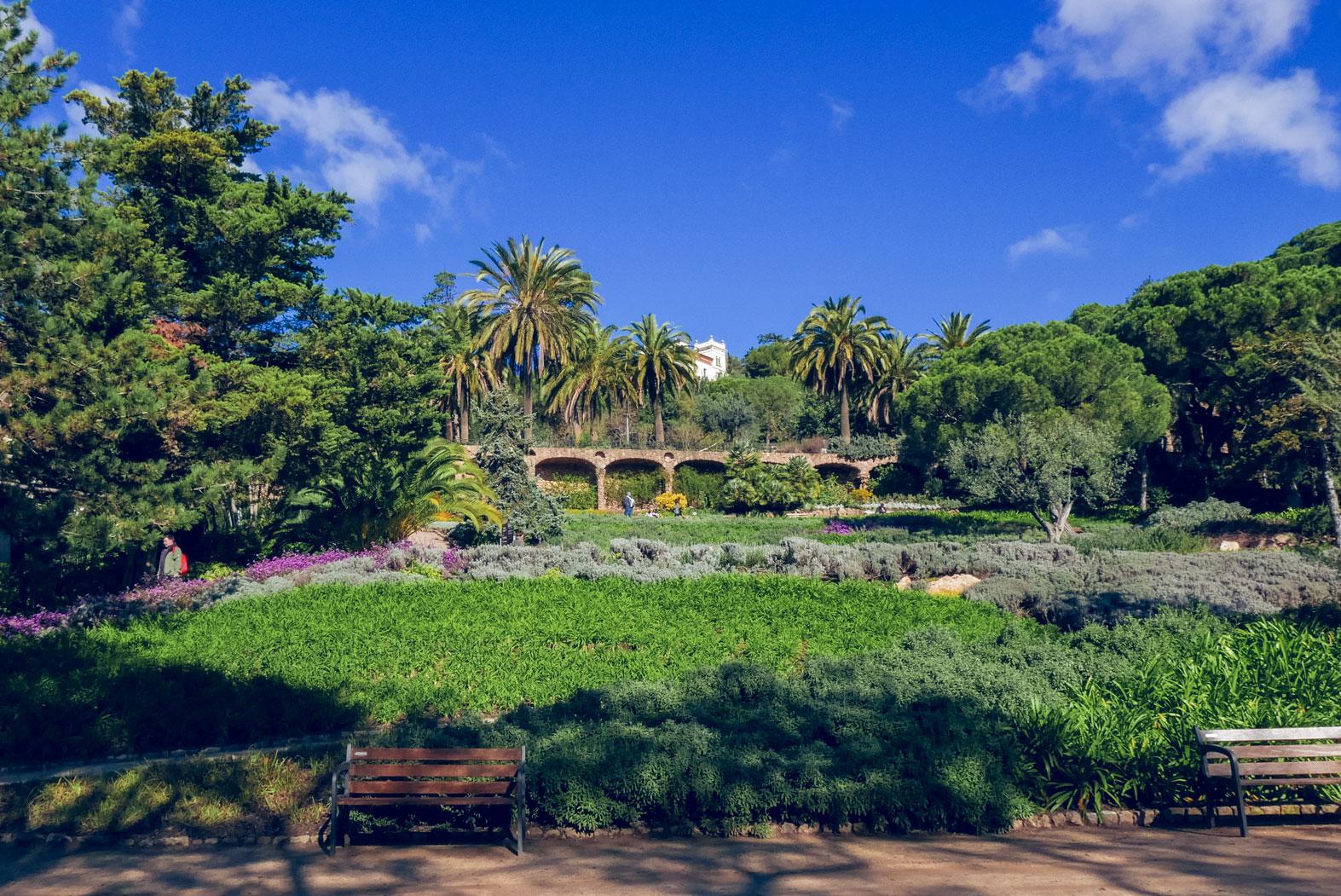 Spain Barcelona Parc Guell garden
